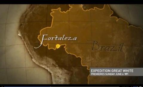 Momento da matéria em que mostra Fortaleza no Acre.